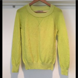 GAP Neon Green Wool Blend Sweater
